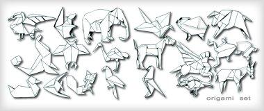Origami Animals Set (vector)