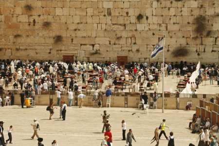 Western Wall during the holiday of Passover in Jerusalem, Israel.