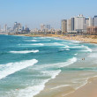 Sea coast and the view of the Tel Aviv from Old Ja...