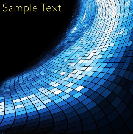 Photo for Geometric tech background. Creative background. - Royalty Free Image