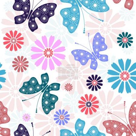Pastel seamless floral pattern