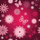 Piros varrás nélküli virágos háttérkép