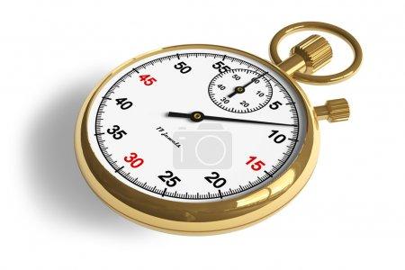 Golden stopwatch
