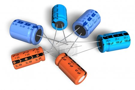 Photo for Electrolytic capacitors - Royalty Free Image
