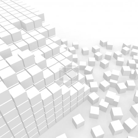 Photo for Scattered cubes - Royalty Free Image
