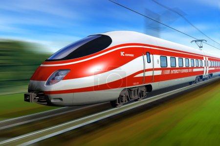 Photo pour InterCity Express avec flou de mouvement - image libre de droit