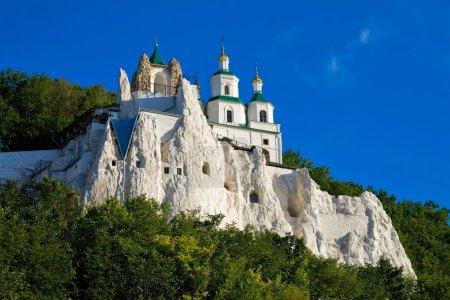 Photo pour L'église légendaire sur le rocher de craie en Ukraine - image libre de droit