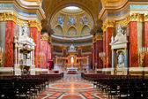 Interior of Stephen's Basilica in Budapest, Hungary