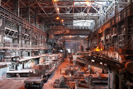 Interior of metallurgical plant workshop