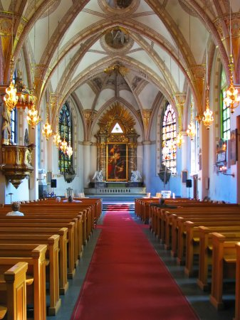 Catholic church interior...