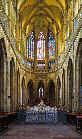 St. Vitus cathedral interior in Prague