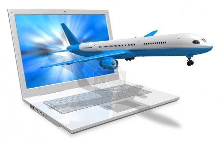 Photo pour Concept de voyage aérien - image libre de droit