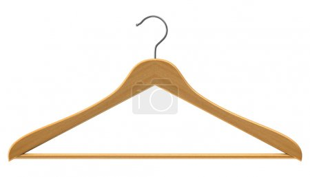 Photo for Coat hanger isolated on white - Royalty Free Image