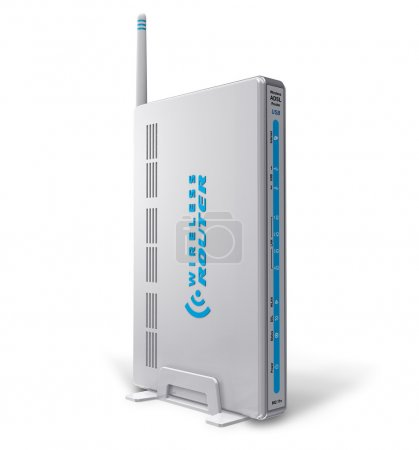 White wireless ADSL router...