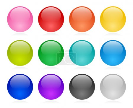 Illustration for Web button set - Royalty Free Image