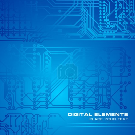 Blue circuit board background