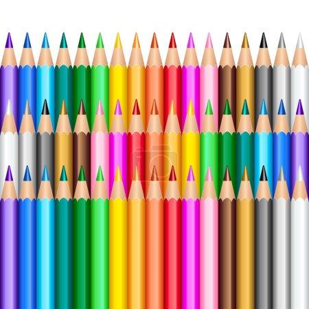 Illustration pour Crayons de couleur fond - image libre de droit