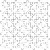 Tiled seamless puzzles template pattern