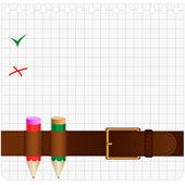 Belt and pencil