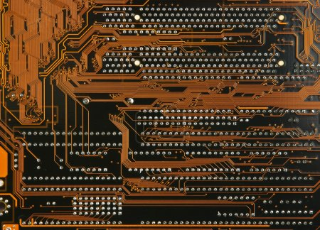 Photo for Printed circuit board close up - Royalty Free Image