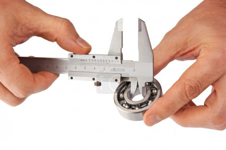 Callipers with bearing in hand