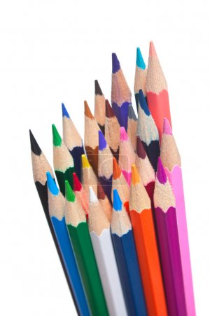 Photo for Color pencils isolated on a white background - Royalty Free Image