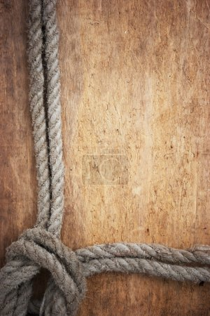 Photo pour Cadre photo de corde - image libre de droit
