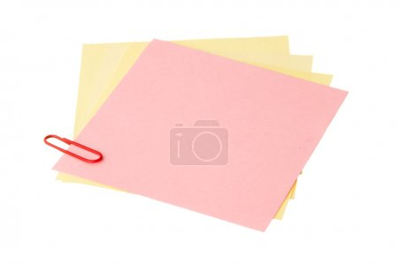 Photo pour Many reminder notes isolated on a white background - image libre de droit