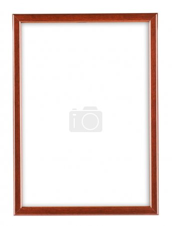 Photo for Red frame isolated on white - Royalty Free Image