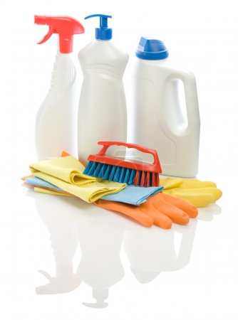 Collection of objects for cleaning