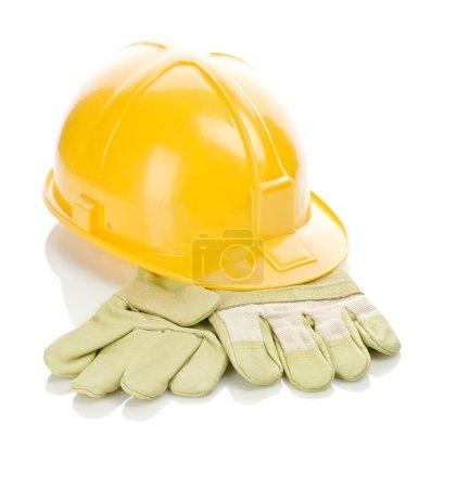 Photo pour Casque sur gants - image libre de droit