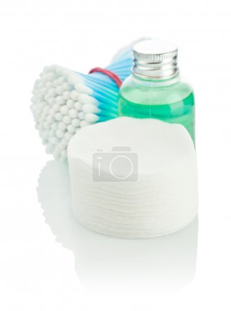 Pads swabs and small bottle
