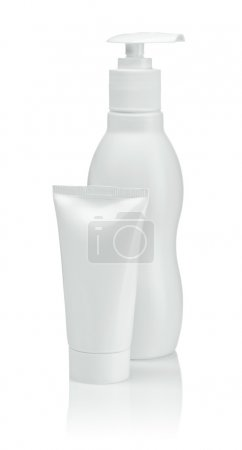 Photo for Plastic tube with bottle - Royalty Free Image