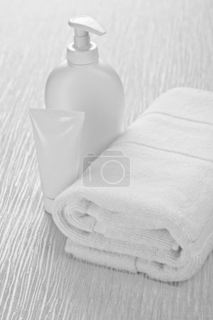 Tube bottle and towel