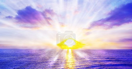 Photo for Fantastic sunset over the sea - Royalty Free Image