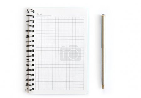 Photo for Blank spiral notepad isolated on white - Royalty Free Image