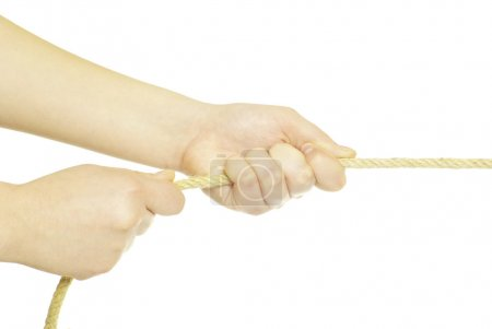 Hands and rope