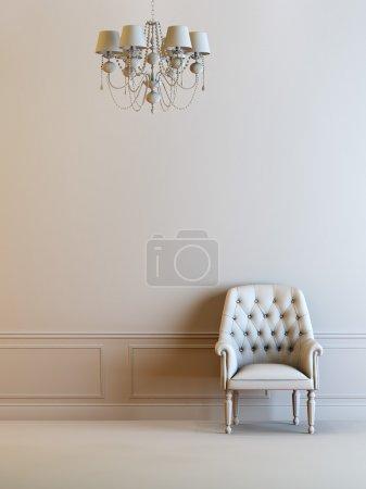 Photo pour Une composition intérieure 3D grise - image libre de droit