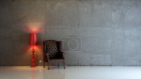Photo pour Une composition intérieure 3D moderne - image libre de droit