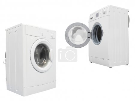 The image of washers under the white background...