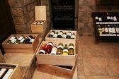 Bottiglie con vino vecchio