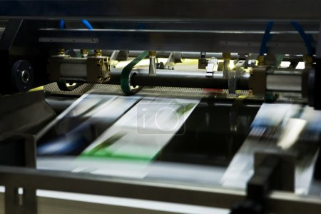 Polygraphic process in a modern printing house...
