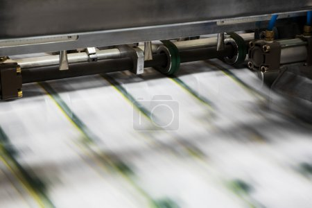 Photo for Polygraphic process in a modern printing house - Royalty Free Image