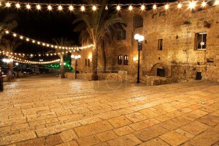 Classic Israel - Old street of Jaffa, Tel Aviv in the night