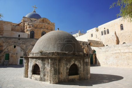 Dome on the Church of the Holy Sepulchre in Jerusalem, Israel