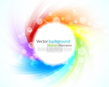 Illustration for Abstract colorful background. Illustration with rays - Royalty Free Image