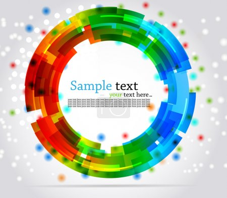 Abstract circle background. Colorful illustration