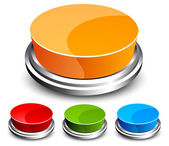 Set of abstract glossy button
