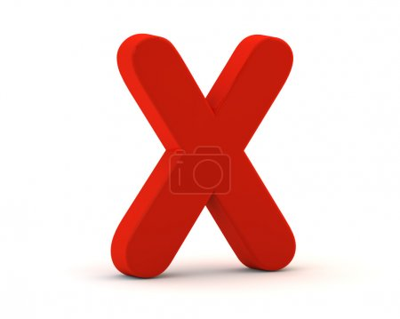 Red no or x check mark