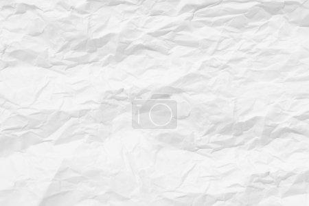 Photo pour Papier blanc drap froissé blanc. fond de texture. - image libre de droit